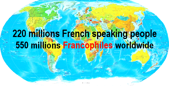 220 millions of French speaking people in the world